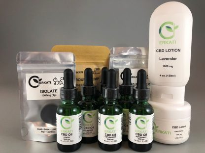 The Entire Erkati Line of CBD Products